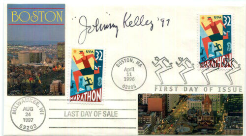 AUTHENTIC Johnny Kelley signed FDC