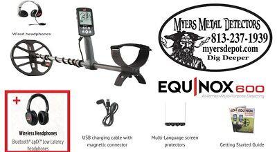 "Minelab EQUINOX 600 Metal Detector + Wireless HdPhones with EQX 11""DD Smart Coil"
