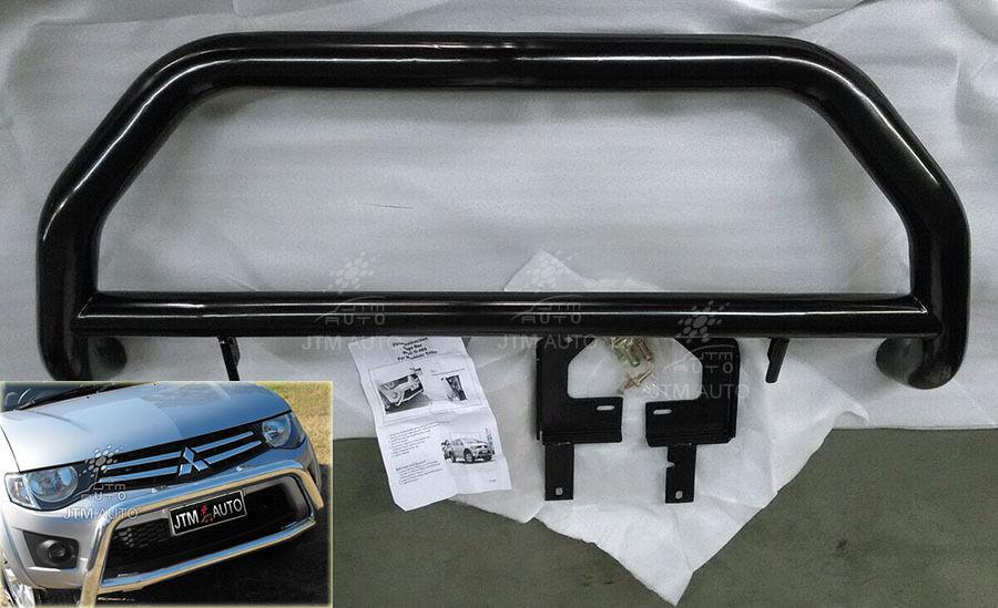 "Suits Mitsubishi Triton OEM 3"" Nudge Bar Black Grille Guard 2006-2015"