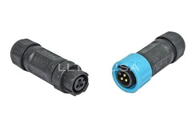 Waterproof Connector Llt-usa M12 Ip67 3 Pin Field Assembly Male And Female Plug
