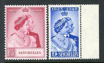Seychelles 1948 Silver Wedding Set SG152/3  fine MNH