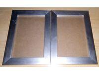 2 x Sliver photo frames