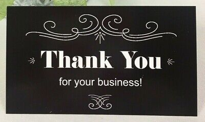 Thank You For Your Business Cards Black White