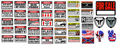 - RC 1/10 Scale Warning Decal Stickers Axial Crawler Graphic Garage 1.9 2.2 RC Set