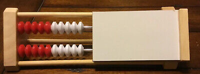Kids Math Learning Wooden Abacus with built-in white board, NEW