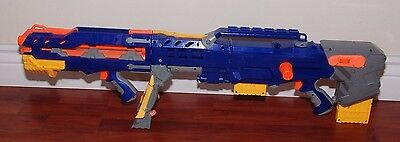 Nerf N-Strike Blue Longshot CS-6 w/ front barrel & 2 Clips FREE SHIPPING