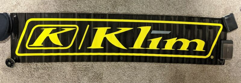 "KLIM Snowmobile Motorsports Vinyl Advertising Banner 54""x12"""