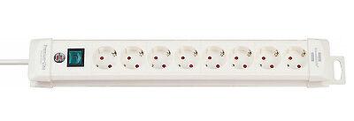 Brennenstuhl Steckdosenleiste 8-fach Weiß Premium-Line Mehrfachsteckdose