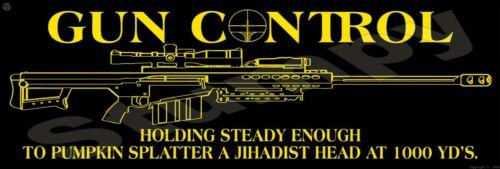 """Gun Control Metal Sign 6"""" x 18"""""""