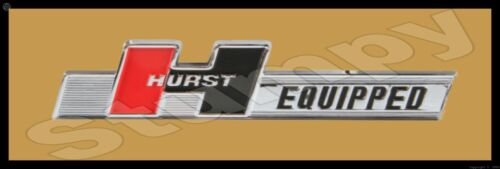 """Hurst Equipped Metal Sign 6"""" x 18"""""""