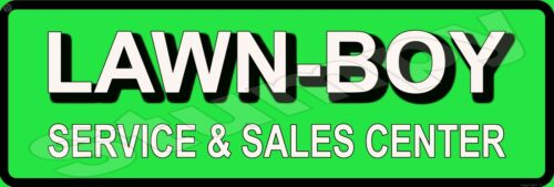 "Lawn Boy Service and Sales Center Metal Sign 6"" x 18"""