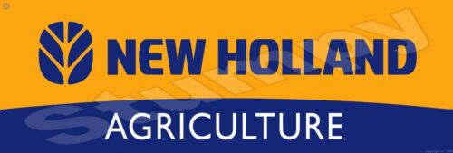 """New Holland Agriculture Metal Sign 6"""" x 18"""""""