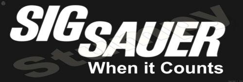 """Sig Sauer  Metal Sign 6"""" x 18"""""""
