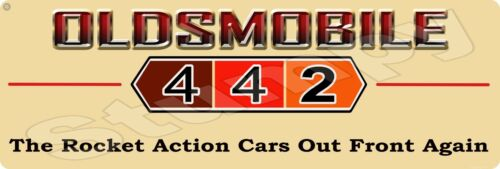 "Oldsmobile 442 Metal Sign 6"" x 18"""