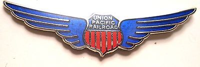 Union Pacific Shield Hat Pin with Wings Train Railway Railroad Red WHite BLUE