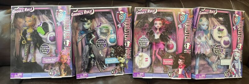 monster high ghouls rule dolls Set Of 4