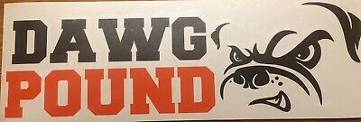 "Cleveland Browns Dawg Pound Decal 3""x10"" **free Shipping**"