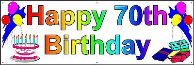HAPPY 70th BIRTHDAY BANNER 2FT X 6FT NEW LARGER SIZE](70th Birthday Banner)