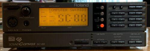 Roland SC-88 MIDI Synthesizer Module - Fully Operational
