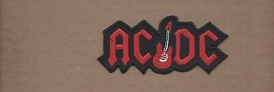 NEW 1 7/8 X 4 INCH AC/DC IRON ON PATCH FREE SHIPPING