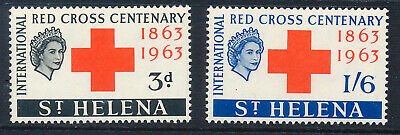 ST HELENA 1963 RED CROSS CENTENARY SG191/192  MNH