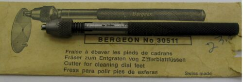 Bergeon cutter for cleaning dial feet for watchmaker, sharp fraise * ref. 30511