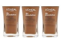 3x Genuine L'Oréal True Match Foundation 30ml - N9 COCOA - 100% Brand New