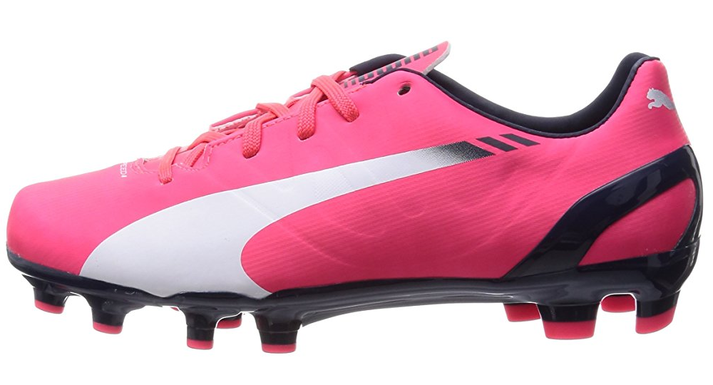 Puma evoSPEED 4.3 FG Junior Football Soccer Boots Shoes pink