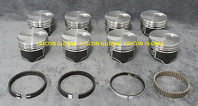 Ford Pistons Moly Rings (Ford 460ci Hypereutectic Flat Top Pistons+Moly Rings Kit +060