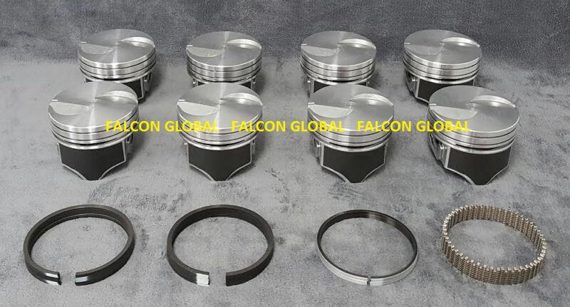 Silvolite Hypereutectic Flat Top Coated Pistons Ford 460 3191HC.030 Bore Set 8