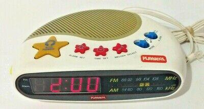 Vintage Playskool Children Kids Melody Maker Digital Alarm Clock Radio