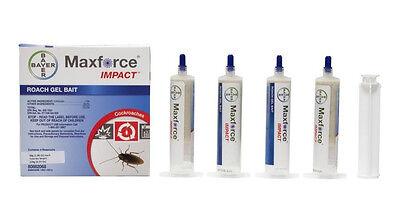 8 Tubes Maxforce Impact Cockroach German Roach Control Bait