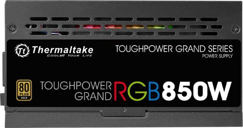 Thermaltake ToughPower Grand RGB 850W ATX12V 2.4/EPS12V 2.92 80 Plus Gold Modular Power Supply Black PS-TPG-0850FPCGUS-R