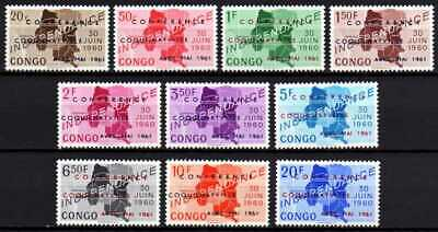 Belgisch Congo Belge Rep. Congo n° 420/429 MNH Ind. Maps Overprint c16.00Eu