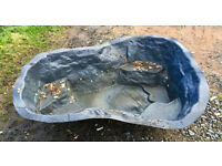 Hard Plastic Pond Liner, suitable for small pond. Good Condition.