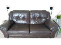 Chocolate Leather Sofa - FREE