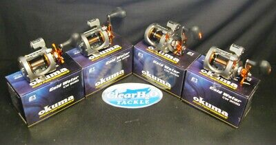 - 4 PACK OKUMA COLD WATER CW-303D LINE COUNTER LEVEL WIND STAR DRAG TROLLING REELS