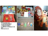 haven holiday toys, soft toys, figures, lunchboxes and dvds can split prices on pic OR £40 the lot