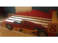Car bed frame, single size. High gloss finish.