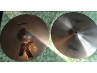 "HI-HATS ZILDJIAN various vintage 12"" 13"" 14"" hi-hats some sound files"