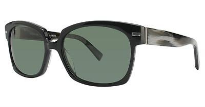 Seraphin Neoclassic Polarized Broadway Sunglasses Black Frame with Green Lens