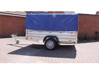 New Car trailer 7.74ft x 4.1ft (2.36m x 1.25m) 750kg + TOP COVER