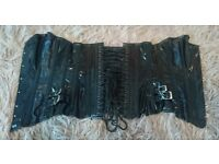 Size 26 black pvc with satin lace up
