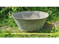 Galvanised Bath Tub/Planter