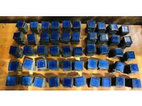 Job lot of Royal blue metallic square tiles approx 2500 kitchen bathroom
