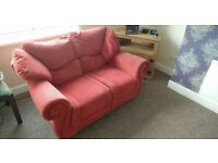 Good Condition Red 2 seat sofa x2 FREE TO COLLECT
