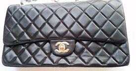 Chanel Double Flap | XL | Black | Gold Trim | Lamb Leather | New