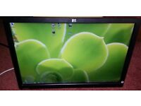 """HP 22"""" widescreen LCD monitor for PC / Dual Screen / Laptop / CCTV SECURITY CAMERA - DELIVERY"""