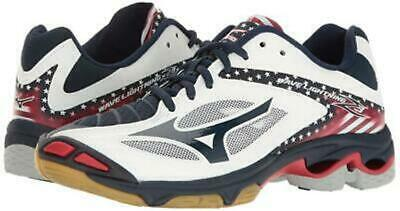 NEW WOMENS MIZUNO WAVE LIGHTNING Z3 VOLLEYBALL SHOES - 12/EUR 44 STARS &