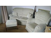 Fabric Sofa set - 2 Seater, 1 Seater + Futon